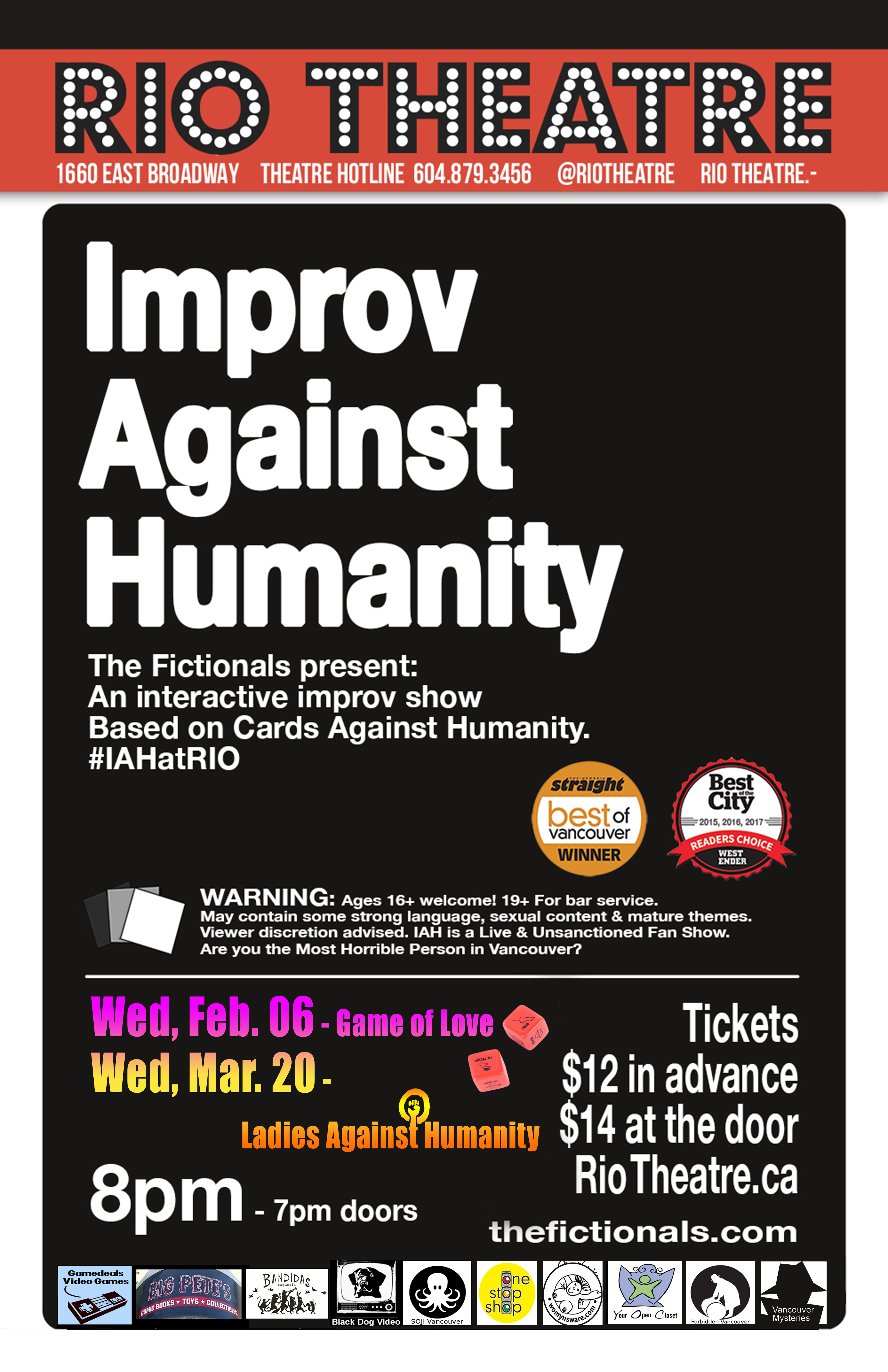 The Fictionals Present Improv Against Humanity: Game of Love
