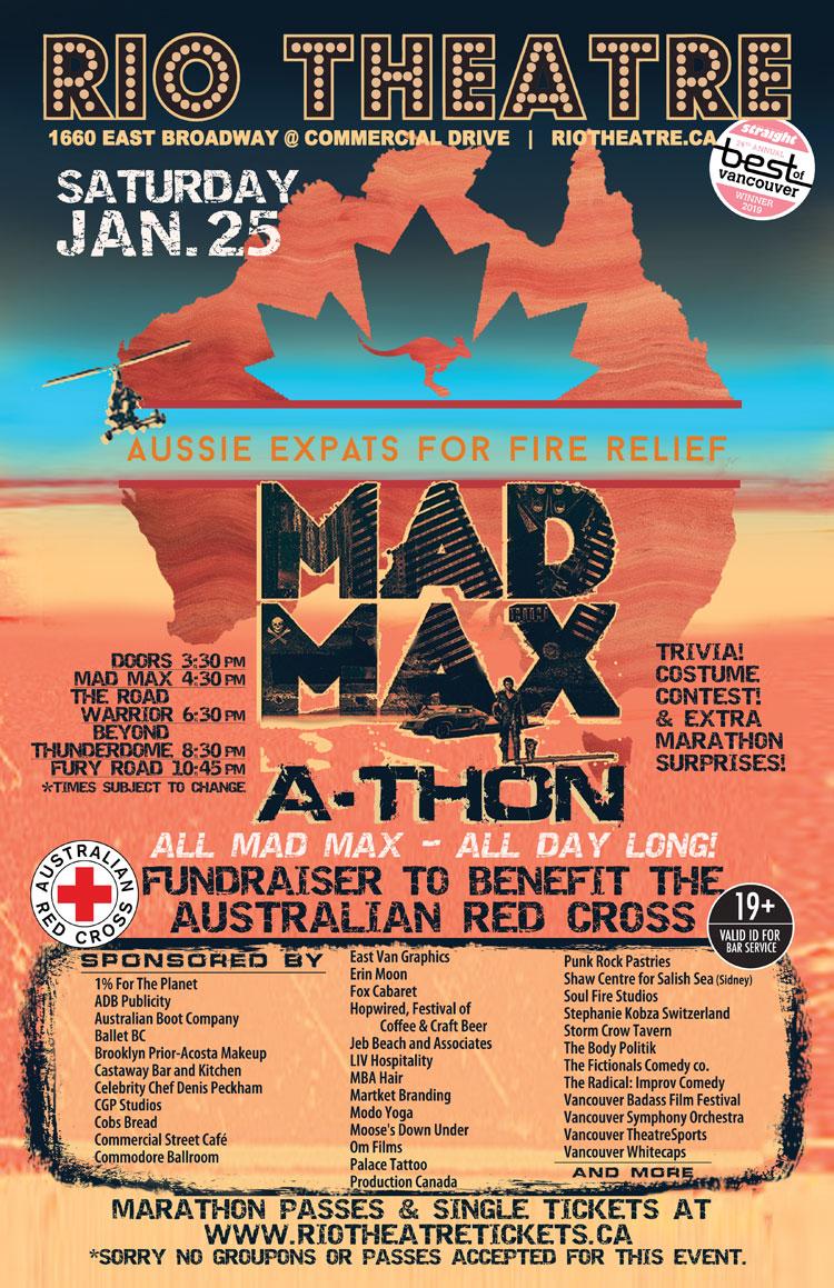 MAD MAX-athon for Aussie Bushfire Relief