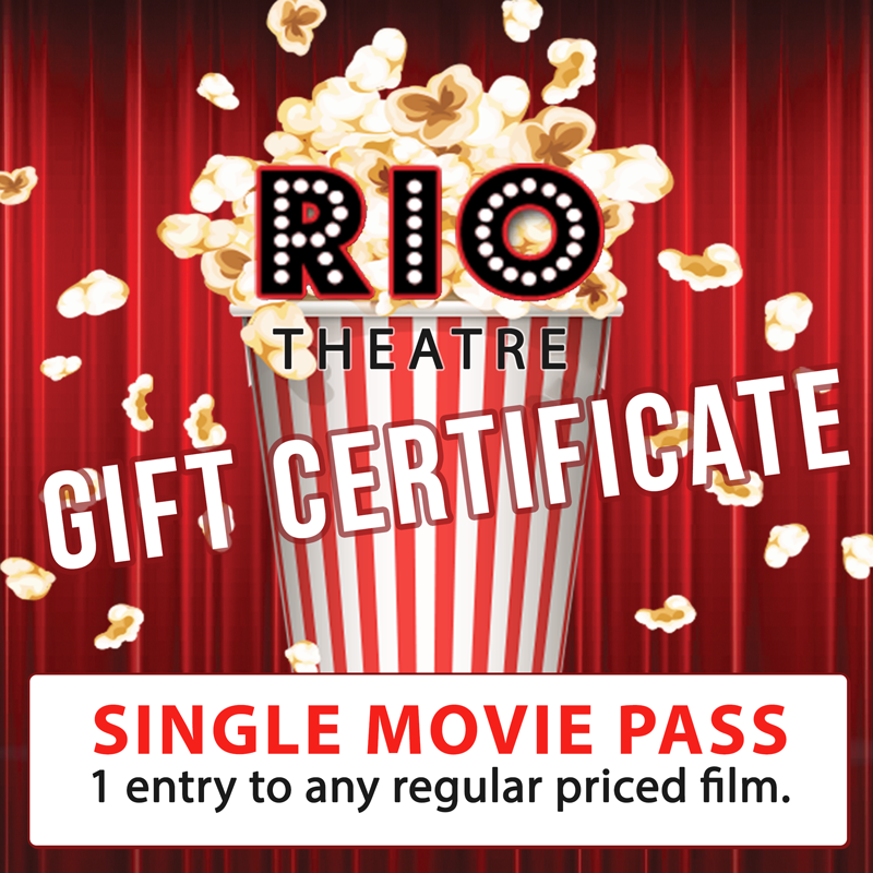 Gift Certificate: Single Movie Pass