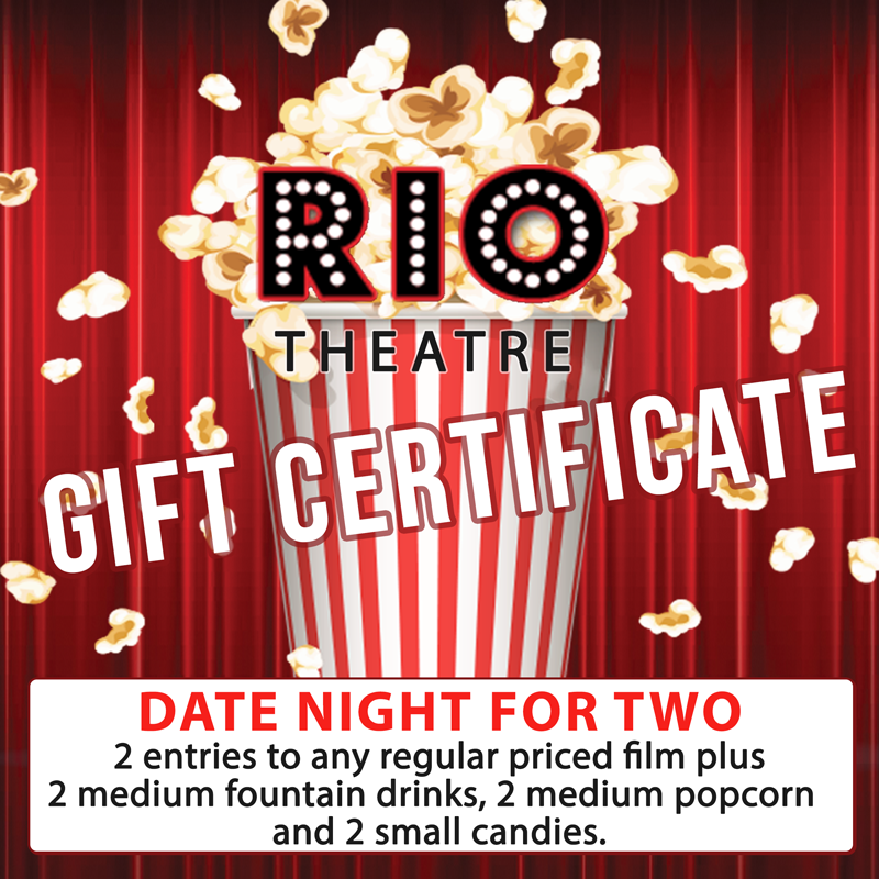 Gift Certificate: Movie Pass For Two & Concession