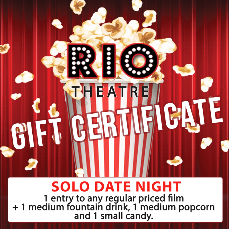Gift Certificate: Single Movie Pass & Concession