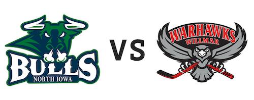 North Iowa Bulls vs Willmar WarHawks