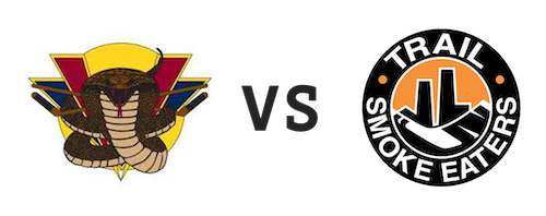 Vernon Vipers vs Trail Smoke Eaters