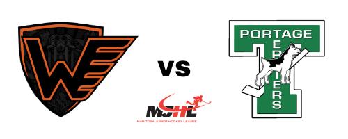 Winkler Flyers vs Portage Terriers