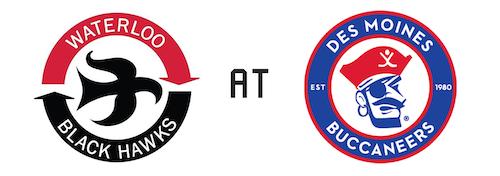 Waterloo Black Hawks vs Des Moines Buccaneers
