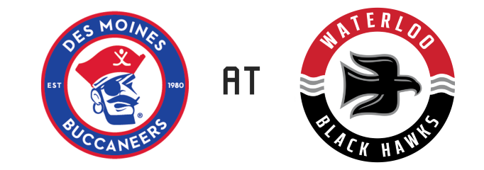 Des Moines Buccaneers vs Waterloo Black Hawks