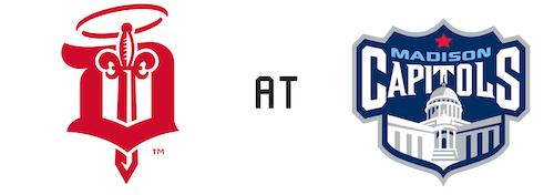 Dubuque Fighting Saints vs Madison Capitols