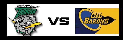 Drayton Valley Thunder vs Fort McMurray Oil Barons