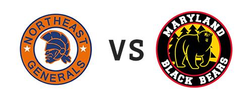 Northeast Generals vs Maryland Black Bears