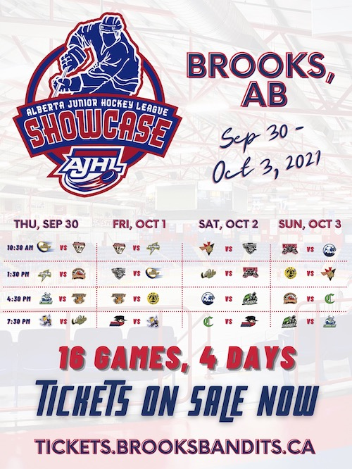 AJHL Showcase 2021 Package - EXCLUDES Bandits Games