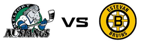 Melfort Mustangs vs Estevan Bruins
