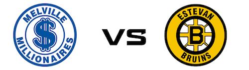 Melville Millionaires vs Estevan Bruins