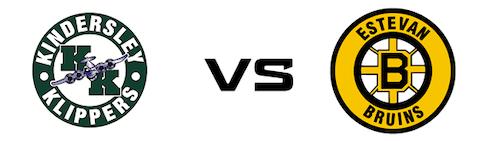 Kindersley Klippers vs Estevan Bruins