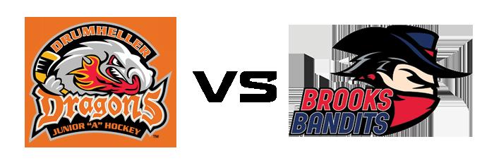 Drumheller Dragons vs Brooks Bandits