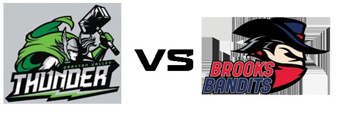 Drayton Valley Thunder vs Brooks Bandits