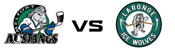 Melfort Mustangs vs La Ronge Ice Wolves
