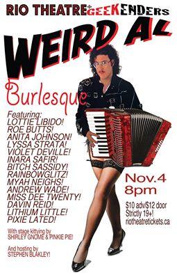 Geekenders presents Weird Al Burlesque