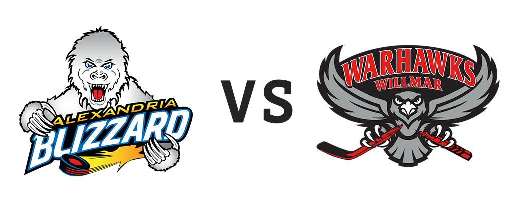 Alexandria Blizzard vs Willmar Warhawks