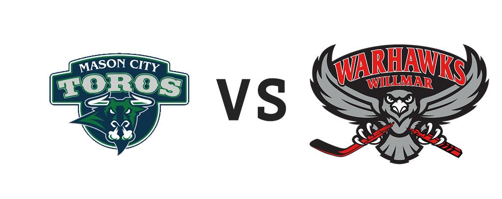Mason City Toros vs Willmar Warhawks