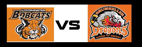 Lloydminster Bobcats vs Drumheller Dragons