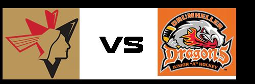 Bonnyville Pontiacs vs Drumheller Dragons