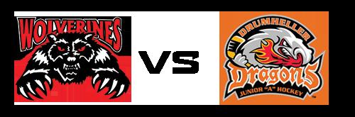 Whitecourt Wolverines vs Drumheller Dragons