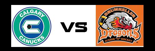 Calgary Canucks vs Drumheller Dragons