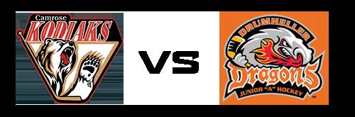 Camrose Kodiaks vs Drumheller Dragons