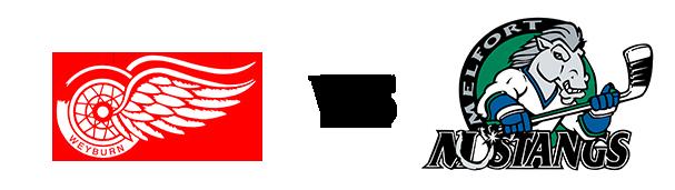 Weyburn Red Wings vs Melfort Mustangs