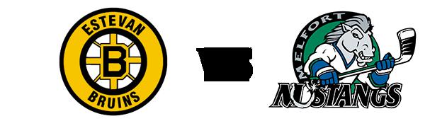 Estevan Bruins vs Melfort Mustangs