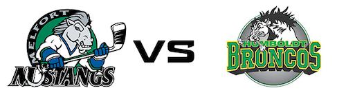 Melfort Mustangs vs Humboldt Broncos