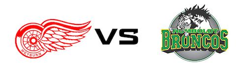 Weyburn Red Wings vs Humboldt Broncos