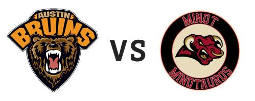 Austin Bruins vs Minot Minotauros