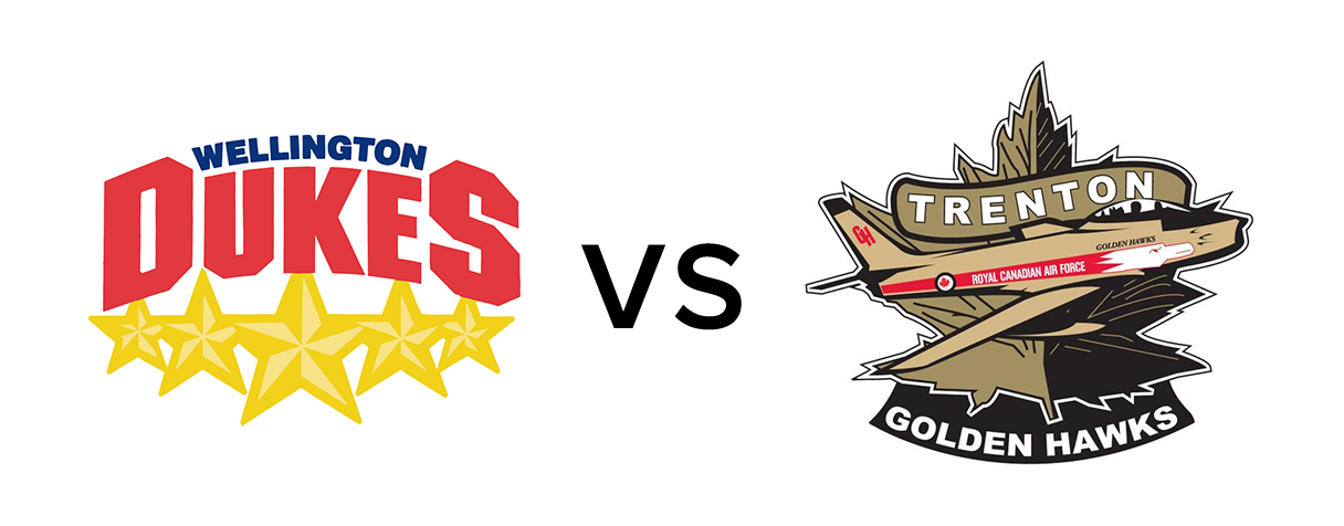 Wellington Dukes vs Trenton Golden Hawks