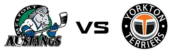 Melfort Mustangs vs Yorkton Terriers