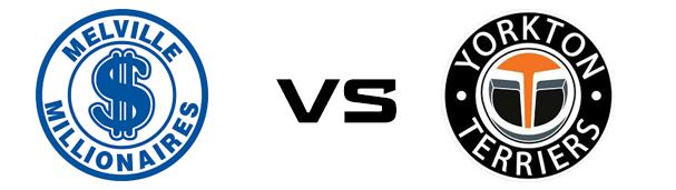 Melville Millionaires vs Yorkton Terriers