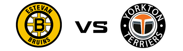 Estevan Bruins vs Yorkton Terriers