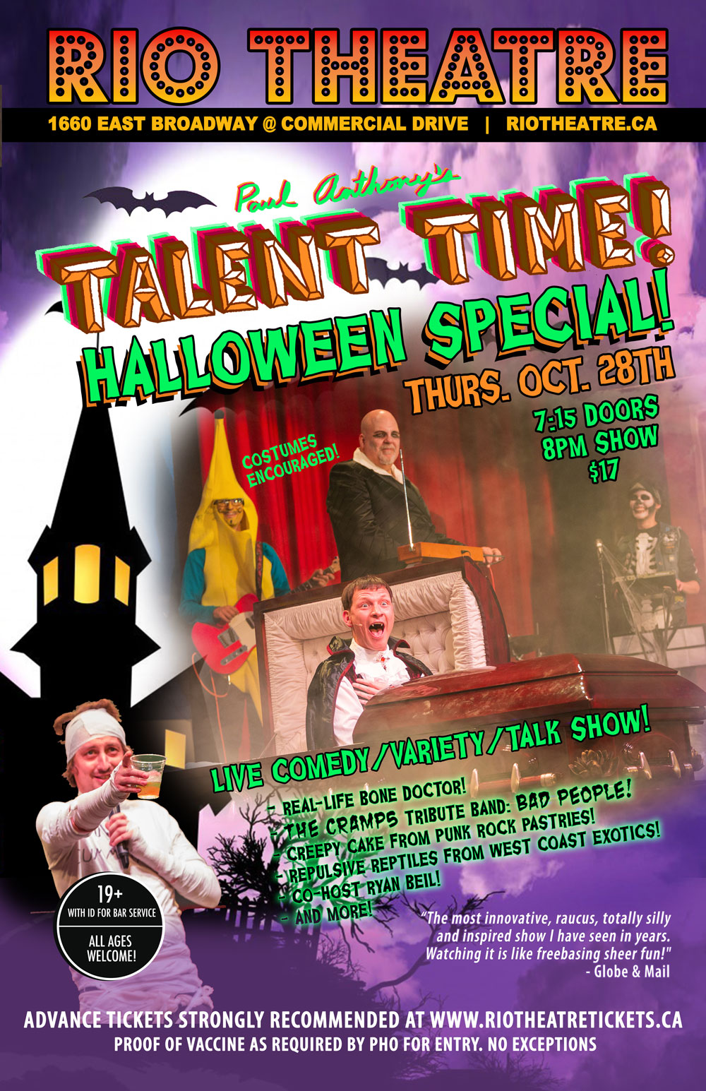 Paul Anthony's Talent Time: Halloween Special