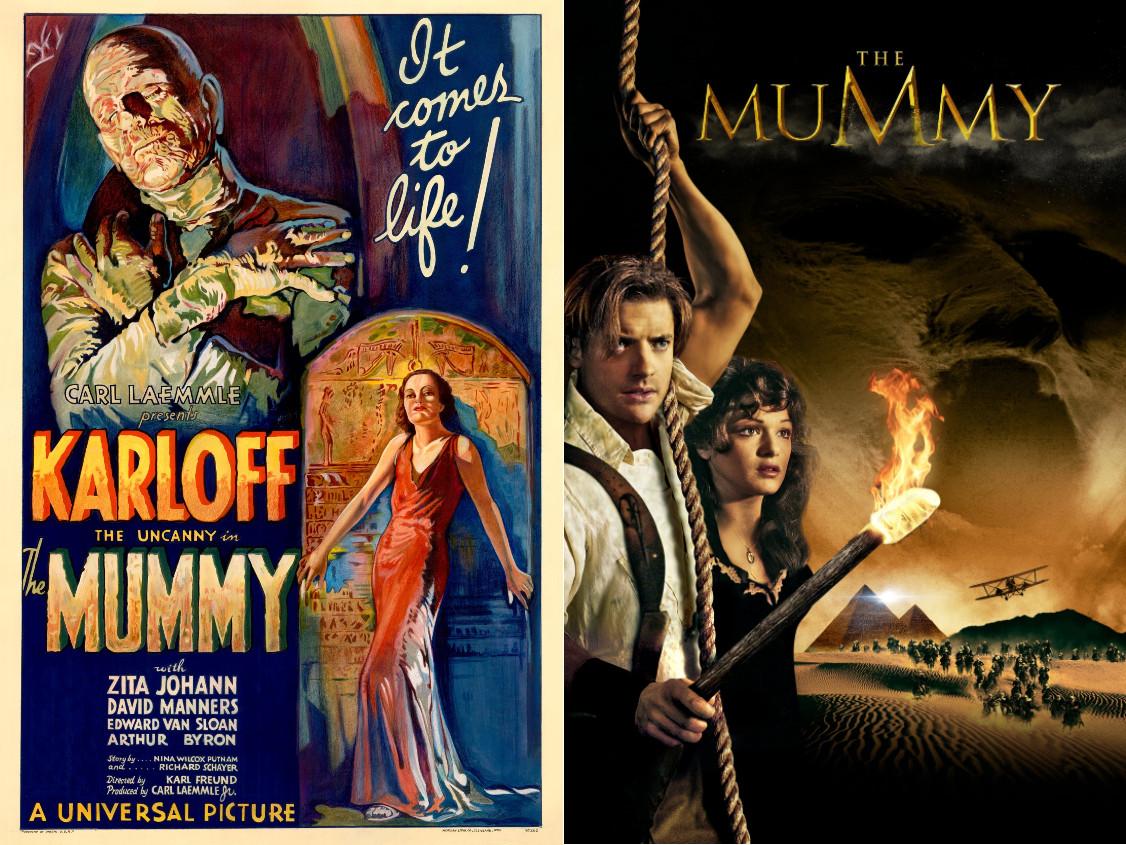#MummyMonday Double Creature Feature: The Mummy (1932) + The Mummy (1999)