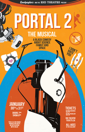 Portal 2: The (Unauthorized) Musical Sunday Feb 1st