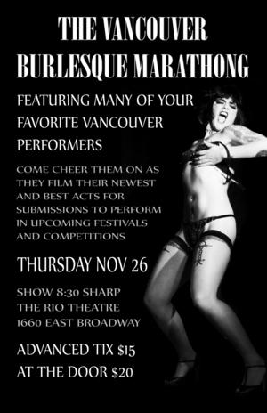 Burlesque Marathong – Vancouver Edition