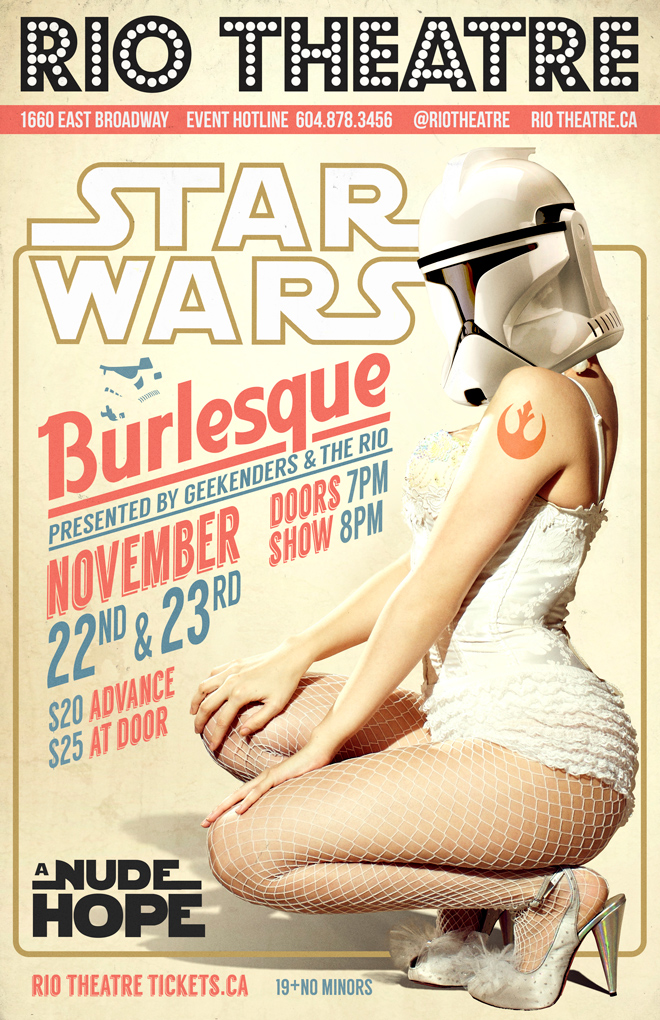 Star Wars: A Nude Hope A Burlesque Re-Imagining Nov 22nd
