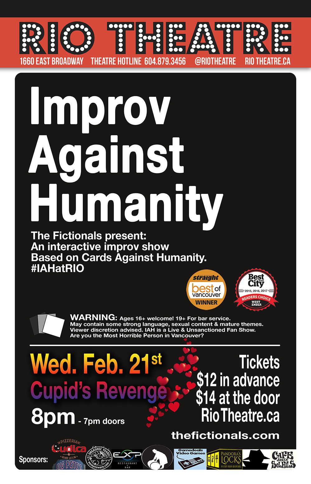 The Fictionals Comedy Co. Presents Improv Against Humanity: Cupid's Revenge!