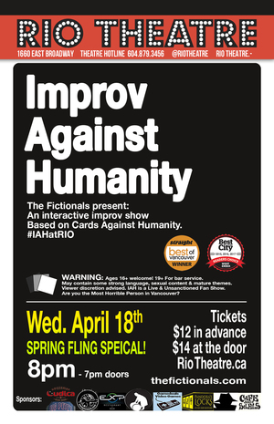 Improv Against Humanity: Spring Fling at the Rio Theatre!