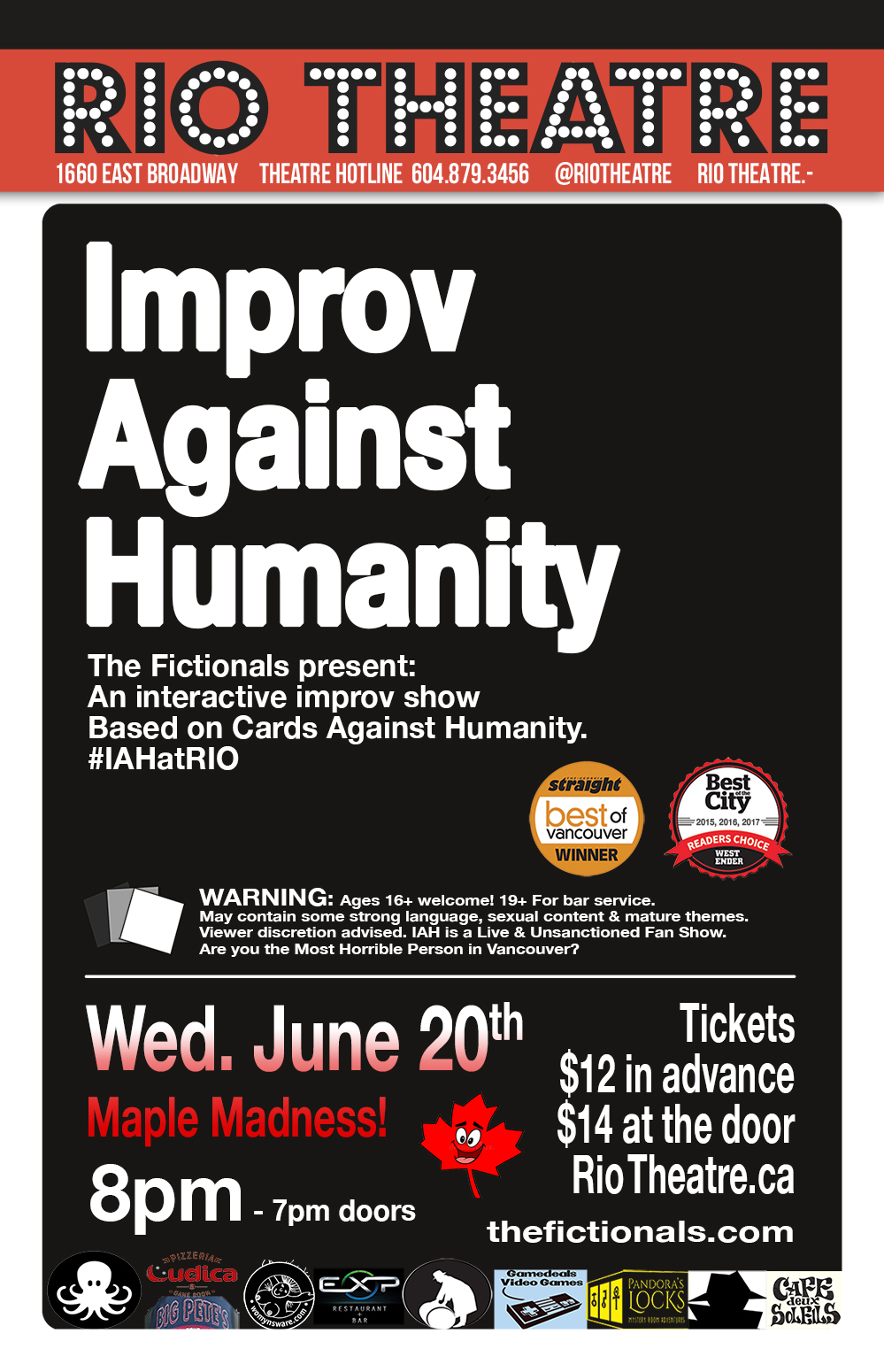 The Fictionals Present Improv Against Humanity: Maple Madness