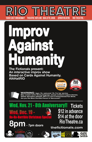 The Fictionals Present Improv Against Humanity: HO HO HOliday Christmas Special